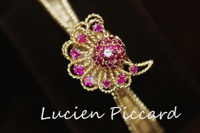 Lucien Piccard ルシアンピカール 14K ダイヤモンド アンティーク*2710lucien.piccard