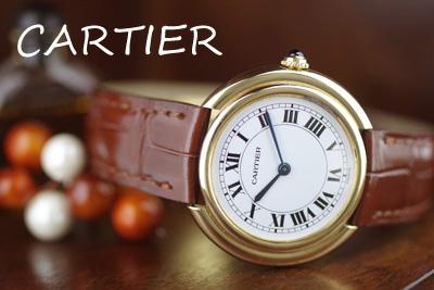 cartier カルティエ 18金ケース アンティーク機械式時計*2839cartier-r1