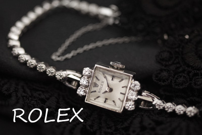 ロレックス 14K ダイヤモンド テニスブレス アンティークカクテルウォッチ*2940rolex
