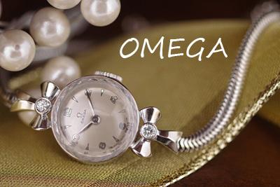 オメガ 14K ダイヤモンド アンティークカクテルウォッチ*2970omega