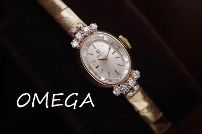 オメガ 14K ダイヤモンド アンティークカクテルウォッチ*2971omega