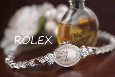 ロレックス 14K ダイヤモンド アンティークカクテルウォッチ*2987rolex