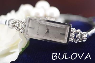 ブローバ 14K ダイヤモンド アンティークカクテルウォッチ*2998bulova