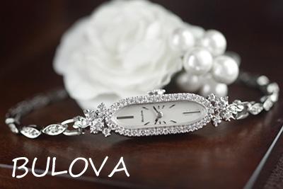 ブローバ 14金ケース&ブレス ダイヤモンド アンティークカクテルウォッチ*3011bulova
