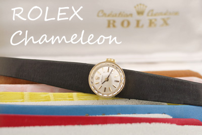 ROLEX カメレオン オリジナルボックス付!!Rolex純正ベルト3本 アンティークウォッチ*3013rolex