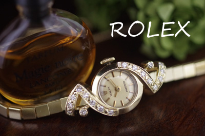 ロレックス 14金ケース&ブレス ダイヤモンド アンティークカクテルウォッチ*3035rolex