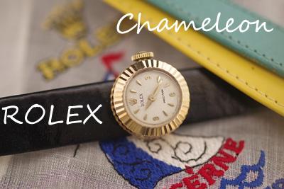 ロレックス カメレオン Chameleon 18金フルーテッド オリジナルベルト3本*3037rolex