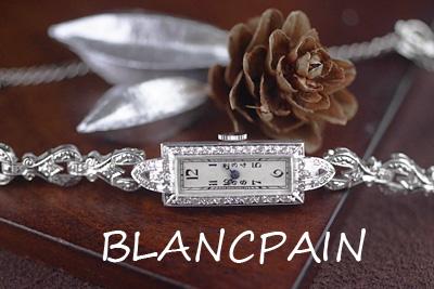 ブランパン Blancpain プラチナケース&14Kブレス ダイヤモンド アールデコウォッチ*3042blancpain