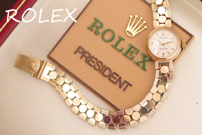 ロレックス 14K金ケース&ブレス アンティークカクテルウォッチ*3044rolex