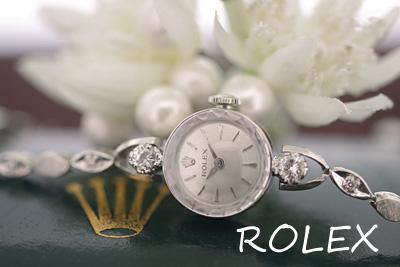 ロレックス 14金ケース&ブレス 大粒ダイヤモンド アンティークカクテルウォッチ*3060rolex