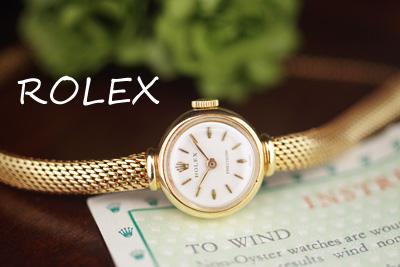 ロレックス 18金ケース&ブレス アンティークカクテルウォッチ*3066rolex