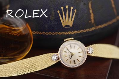 ロレックス 14金ケース&ブレス ダイヤモンド アンティークカクテルウォッチ*3072rolex