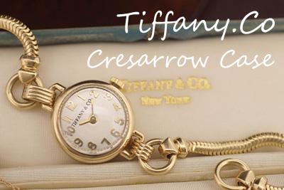 ティファニー 14金ケース&ブレス IWC movement/Cresarrow Case! アンティークカクテルウォッチ*3083tiffany