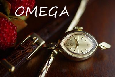 オメガ 14K ダイヤモンド アンティークカクテルウォッチ*3084omega