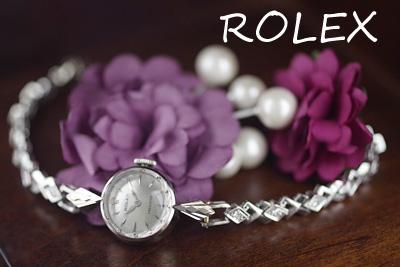 ロレックス 18金ケース&14金ブレス ダイヤモンド アンティークカクテルウォッチ*3092rolex