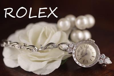 ロレックス 14金ケース&ブレス 大粒ダイヤモンド アンティークカクテルウォッチ*3097rolex