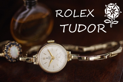 イギリス製 ROLEX Tudor 9金ケース&ブレス スモールセコンド *3106rolex