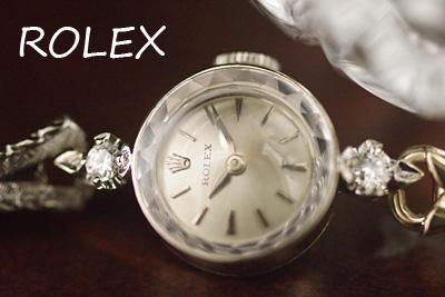 ROLEX ロレックス 14金 ダイヤモンド アンティークカクテルウォッチ*3118rolex