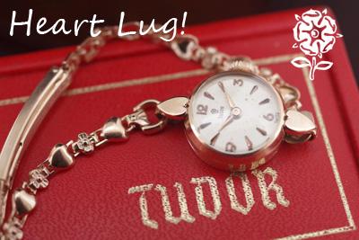 Tudor チュードル 9金ケース ハートラグ アンティークカクテルウォッチ *3118tudor
