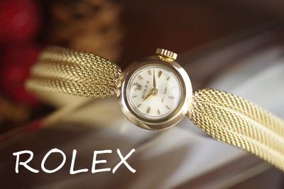 ROLEX ロレックス 14金ケース&ブレス アンティークカクテルウォッチ*3131rolex