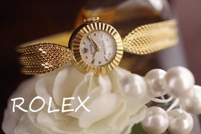 ROLEX ロレックス 18金ケース&ブレス フルーテッド アンティークカクテルウォッチ*3138rolex