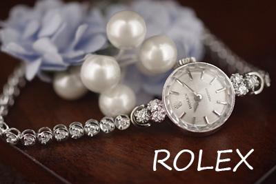 ROLEX ロレックス 14金CASE&18金ブレス ダイヤモンド1カラット アンティークウォッチ*3142rolex