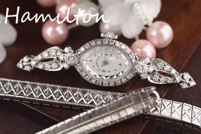 ハミルトン 14K ダイヤモンド アンティークカクテルウォッチ*3146hamilton
