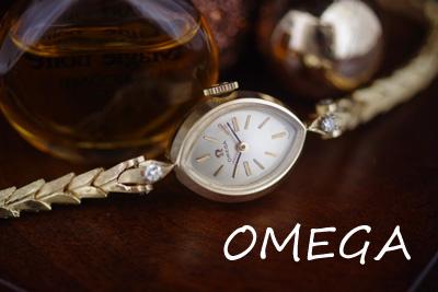 オメガ 14金ケース&ブレス ダイヤモンド アンティークカクテルウォッチ*3149omega