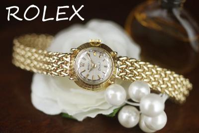 ROLEX ロレックス 18金ケース&14金ブレス アンティークウォッチ*3153rolex