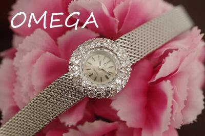OMEGA オメガ 18金ケース&ブレス ダイヤモンド アンティークカクテルウォッチ