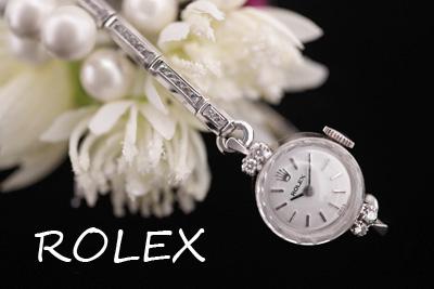 ROLEX ロレックス 14金 ダイヤモンド アンティークカクテルウォッチ*3164rolex