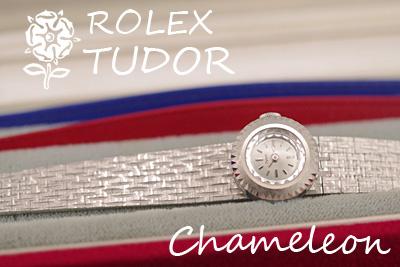 Tudor Chameleon 箱付 18金ケース&9金ブレス アンティークカクテルウォッチ*3165tudor