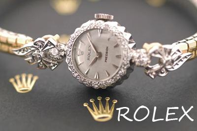 ROLEX ロレックス 18金ケース ダイヤモンド アンティークカクテルウォッチ*3166rolex