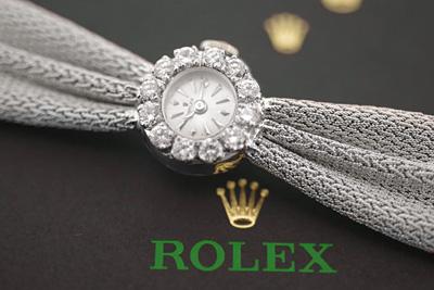 ROLEX ロレックス 18金ケース&14金ブレス  大粒ダイヤモンド アンティークウォッチ*3170rolex