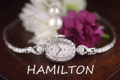 ハミルトン 14K ダイヤモンド アンティークカクテルウォッチ*3173hamilton