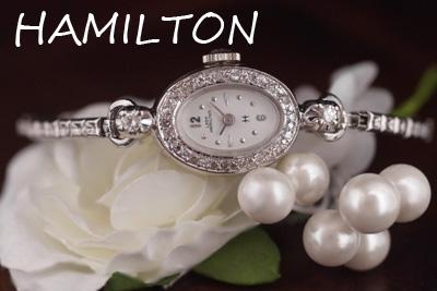 ハミルトン 14金ケース ダイヤモンド アンティークカクテルウォッチ*3174hamilton