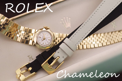 オROLEX カメレオン 18金ケース&金無垢ブレス