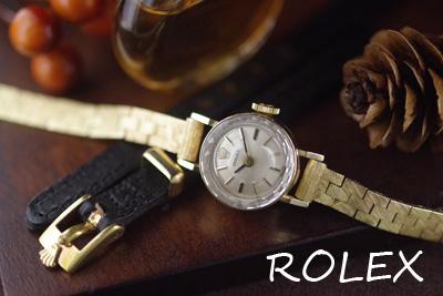 ROLEX ロレックス 14金ケース&ブレス アンティークカクテルウォッチ*3176rolex