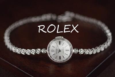 ROLEX ロレックス 14金 ダイヤモンド アンティークカクテルウォッチ*3181rolex