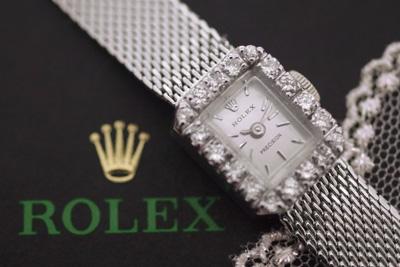 ROLEX ロレックス 14金 大粒ダイヤモンド アンティークカクテルウォッチ*3184rolex