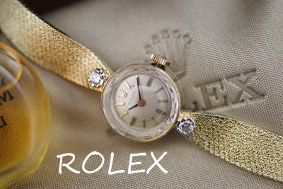 ROLEX ロレックス 14金 ダイヤモンド アンティークカクテルウォッチ*3194rolex