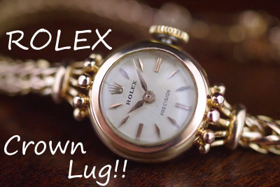 ROLEX ロレックス 王冠ラグ! 18金ケース&ブレス