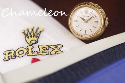 ROLEX ロレックス 18金ケース カメレオン オリジナル革ベルト付 *3201rolex