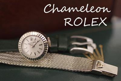 ROLEX カメレオン 18金ケース&14金ブレス ROLEXオリジナル革ベルト *3212rolex