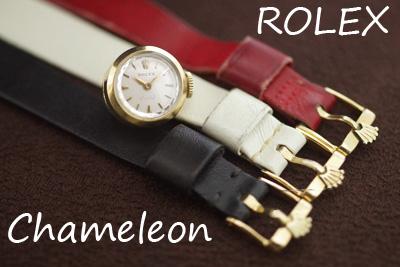 ROLEX ロレックス カメレオン 18金ケース オリジナル革ベルト *3217rolex