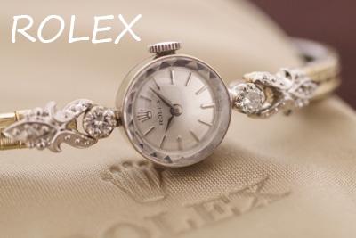 ROLEX ロレックス 14金 ダイヤモンド アンティークカクテルウォッチ*3219rolex