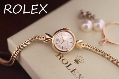 ROLEX ロレックス 18金ケース&9金ブレス アンティークカクテルウォッチ*3237rolex